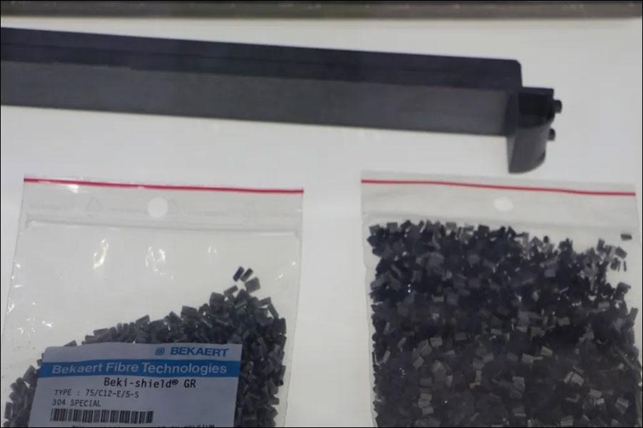 Figure Beki-Shield fiber filler, taken at the Canton Fair booth